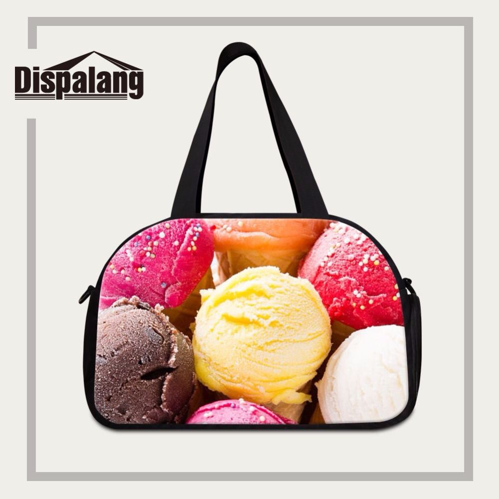 Dispalang new arrival unisex travel handbags ice cream print luggage travel  bags for girls custom travel 7ad49e5069