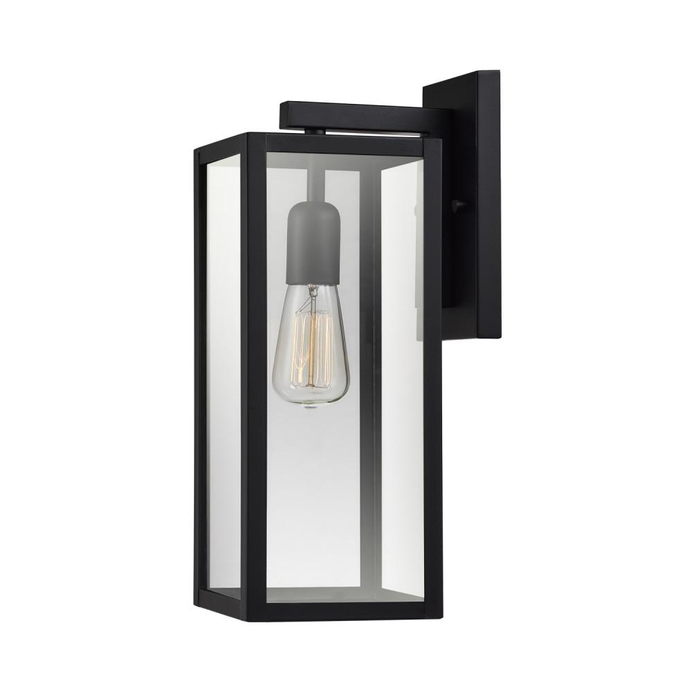 Canarm Ryder 1 Light Black Outdoor Wall Lantern Sconce With Seeded Glass 2 Pack Iol141tbk Hd The Home Depot Seeded Glass Outdoor Light Fixtures Wall Lantern