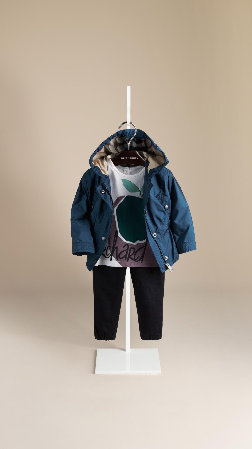 1278c3f0c9d4  burberry kids girl blue jacket for spring 2015  burberry  burberrychildren   SS15  spring  summer  springsummer2015  childrens  kids  childrenswear ...