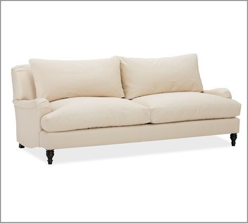 Carlisle Upholstered Sofa Pottery Barn Twill Parchment