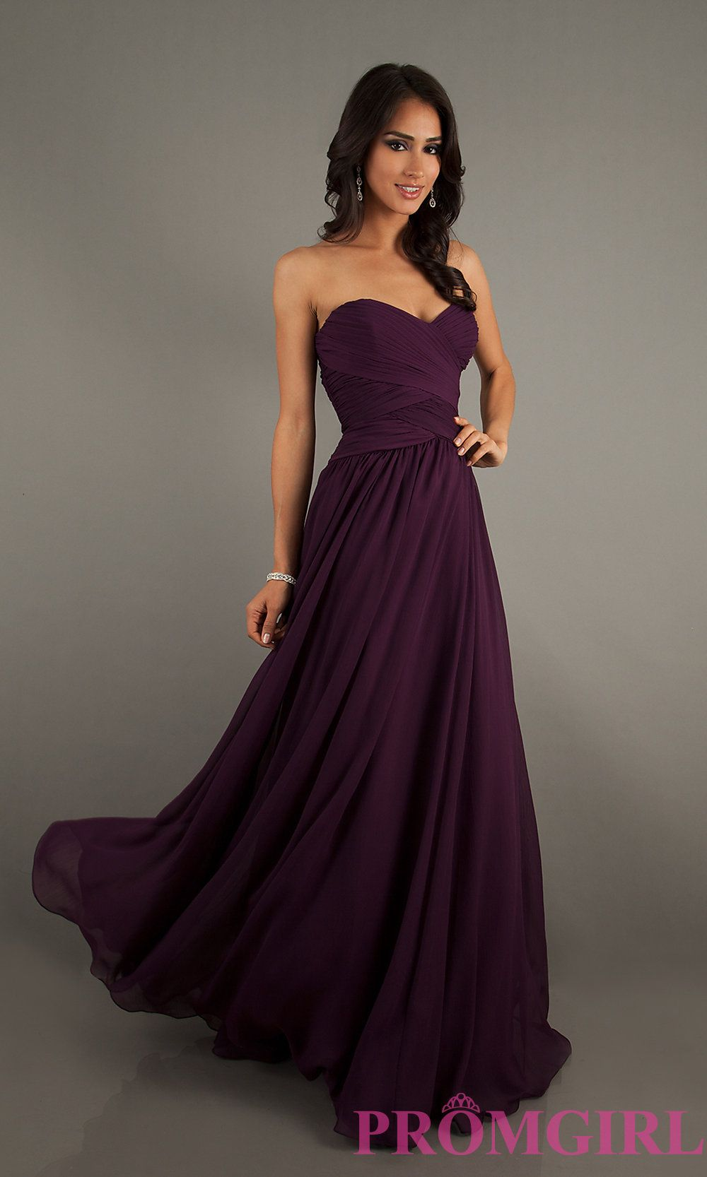 Strapless floor length gown by mori lee long prom dresses