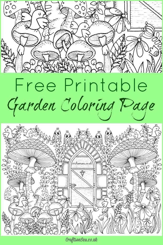 Free Garden Coloring Page for Adults | Gardening with Kids ...