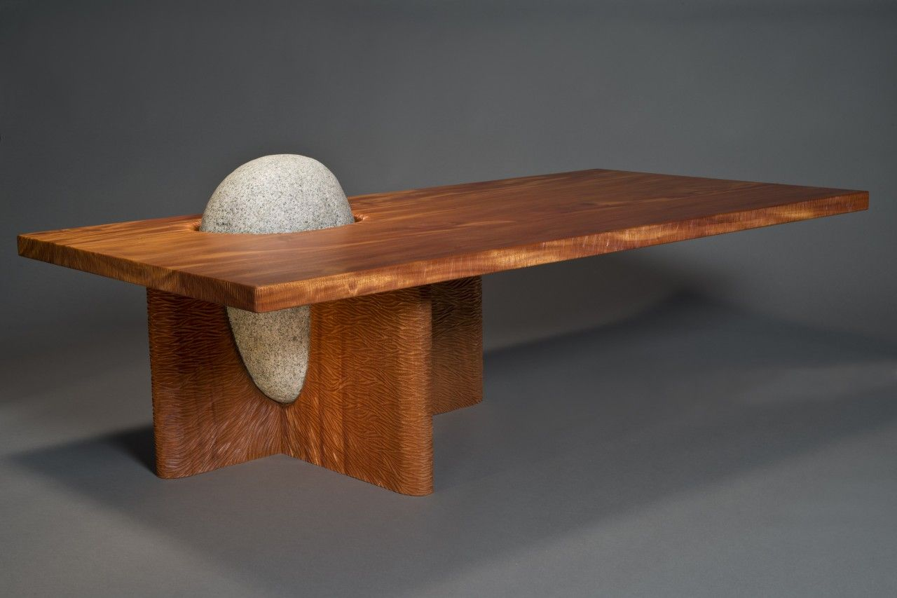 Eddy Coffee Table Solid Wood Stone Table Seth Rolland Coffee Table Coffee Table Wood Wood Coffee Table Top