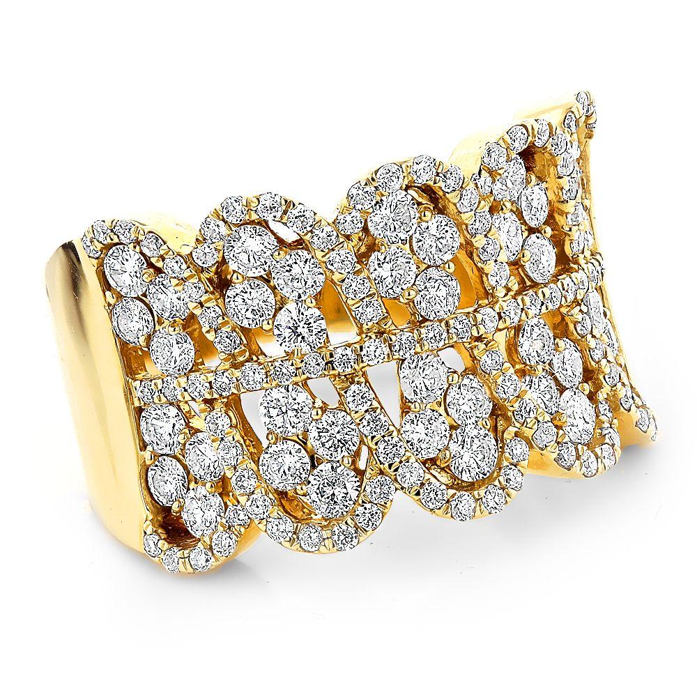 Right Hand Rings: 14k Gold Diamond Ring For Women 2.2ct | Gold ...