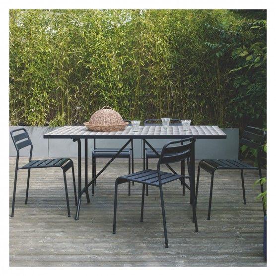 Metal Garden Furniture Sets Uk Becklen black 6 seat garden table with mosaic top buy now at becklen black 6 seat garden table with mosaic top buy now at habitat uk workwithnaturefo