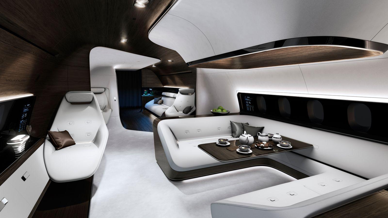 Mercedes-Benz aircraft lounge