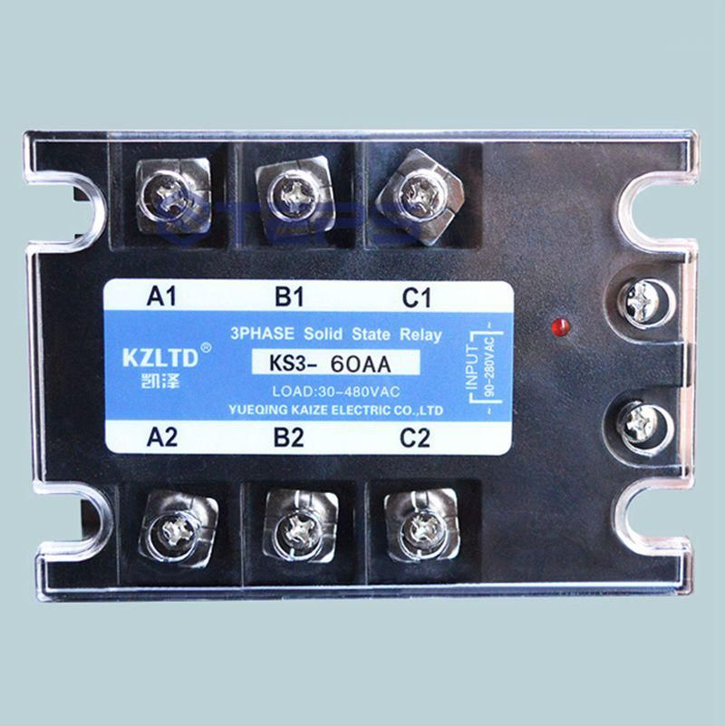 Three Phase Solid State Relay Ac To Ac 60a Non Contact Contactor