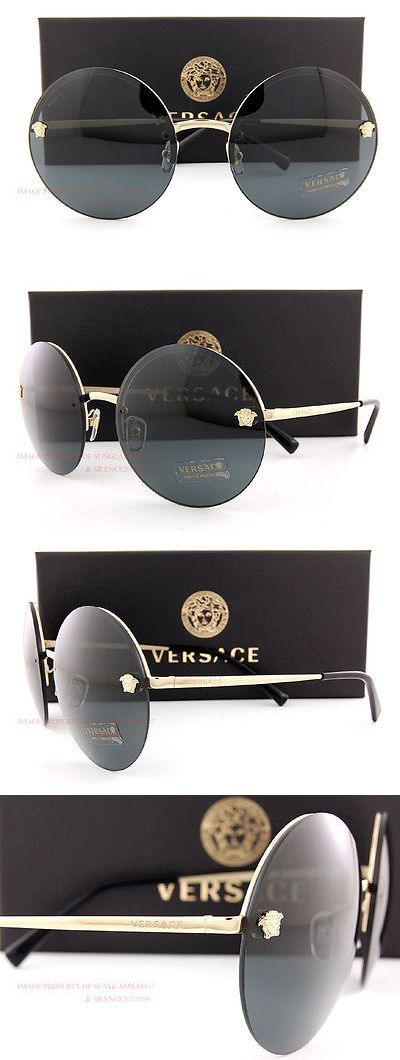 6968533ce6 Sunglasses 45246  Brand New Versace Sunglasses Ve 2176 1252 87 Gold Solid  Gray For Women
