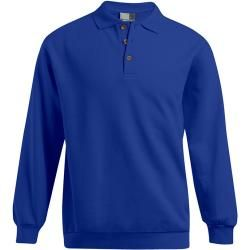 Photo of Polo sweatshirt plus size men, royal blue Promodoro