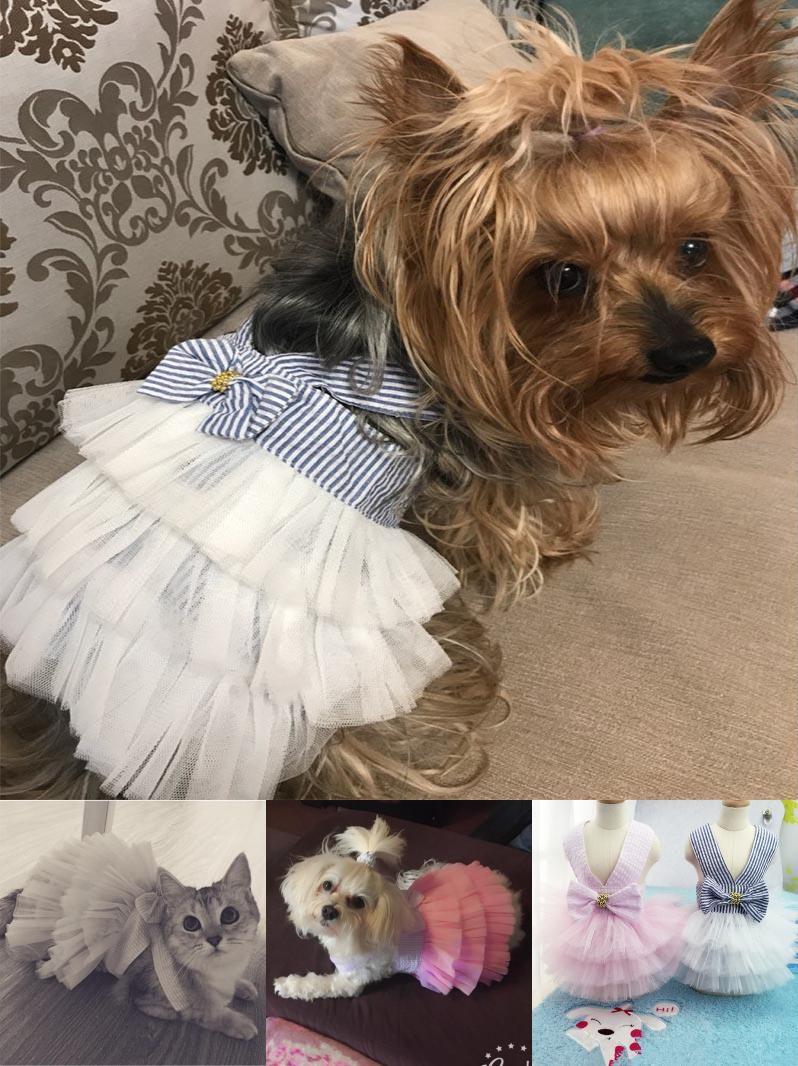 Visit To Buy Cute Pet Dresses Dog Clothes Pet Cat Dress Puppy