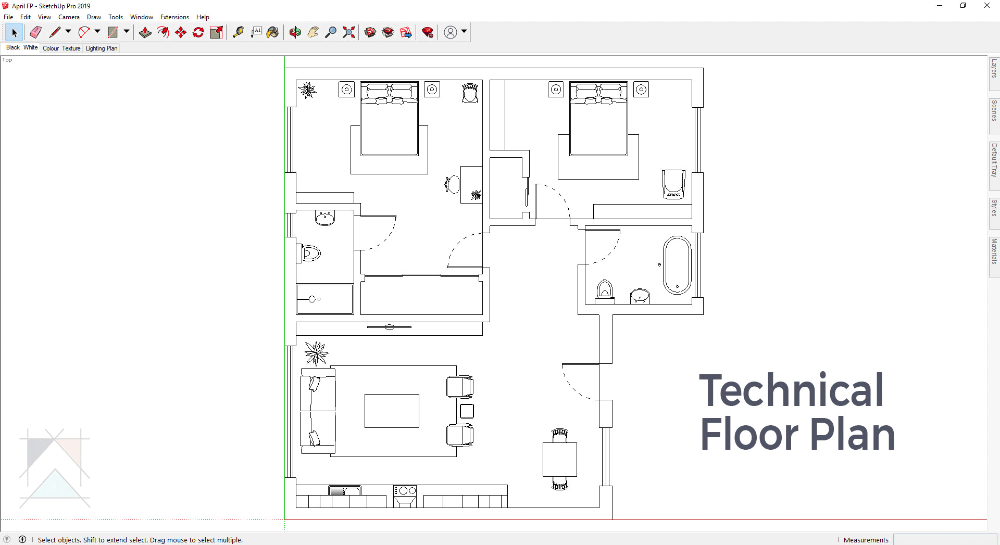 Optimising Sketchup In A Fast Paced Digital World For Floor Plans And Elevations In 2020 Floor Plans How To Plan Online Interior Design Services