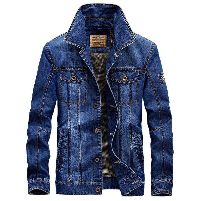 >> Click to Buy << AFS JEEP Denim jacket men retro denim jacket men jeans jacket brand clothing casual Spring & Autumn men jacket plus size 4XL #Affiliate