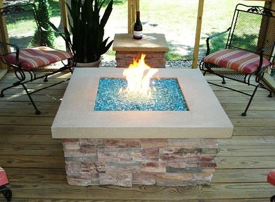 Firepit With Glass Beads With Images Fire Pit Outside Fire