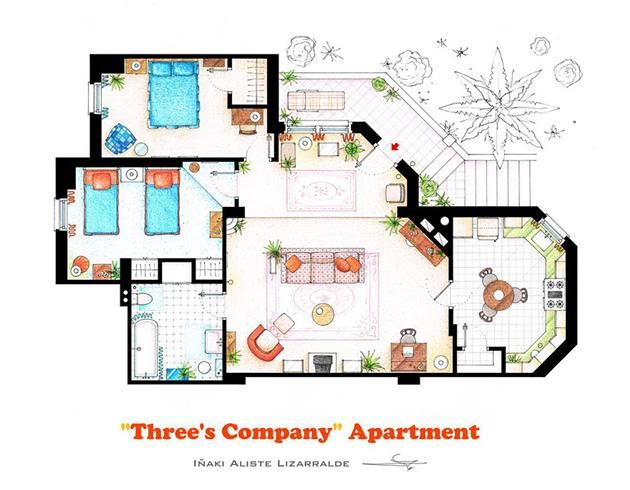 Golden Girls House Floor Plan Threes Company Floor Plan Apartment Floor Plans Three S Company House Floor Plans