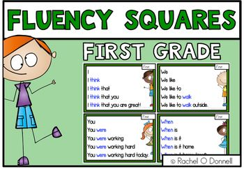 This Is A Sample Of My Full Fluency Squares First Grade Fluency