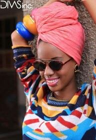 Edgy look with a headwrap