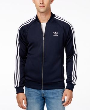 1b4768a87 adidas Originals Men's Superstar Zippered Track Jacket - Blue 2XL ...