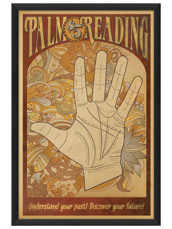 Palmistry Print Vintage Palmistry Print Palmistry Poster