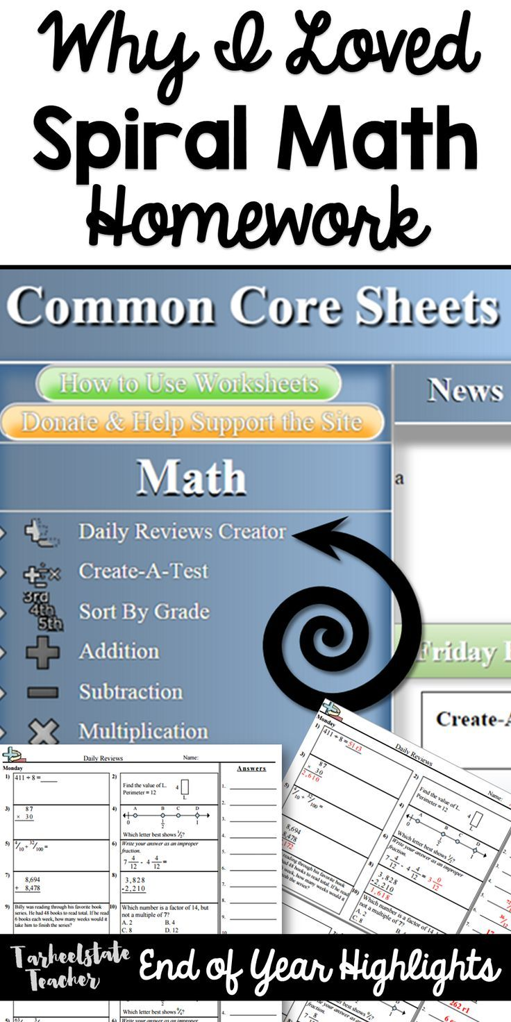 Why I loved Spiral Math homework for my 4th and 5th graders; common ...