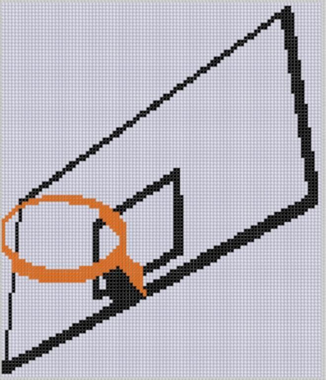 Basketball Hoop Cross Stitch Pattern Basketball hoop, Cross - cross stitch graph paper