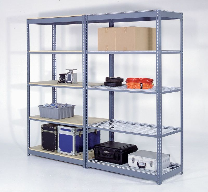 heavy duty shelving rack for storage 48 x 12 x 7 high. Black Bedroom Furniture Sets. Home Design Ideas