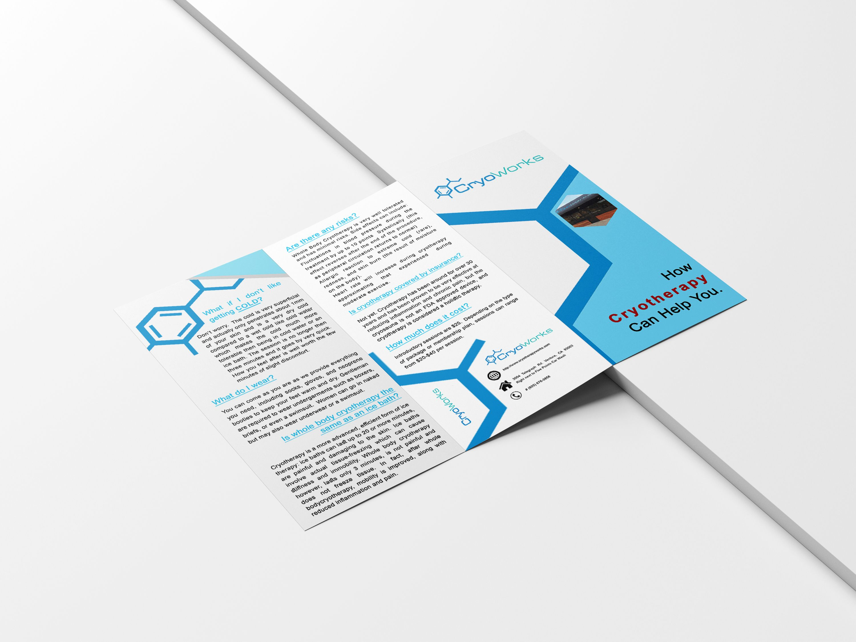 free download digital tri fold brochure template brochure