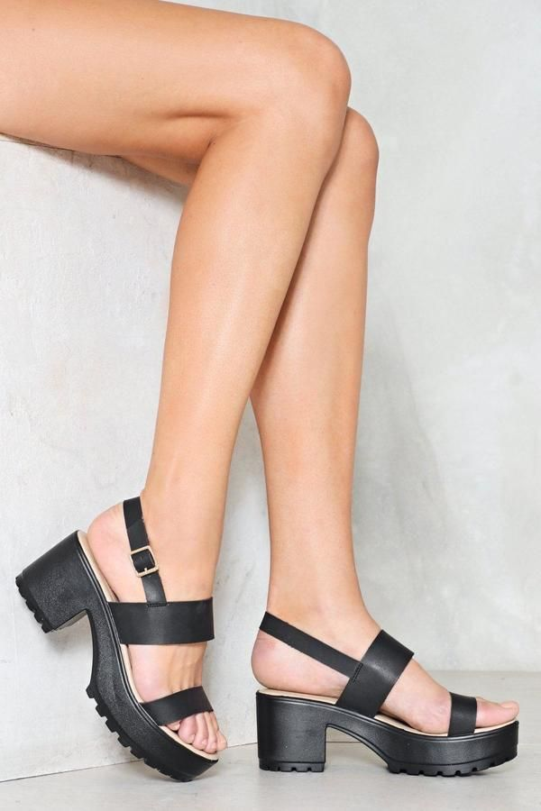 f99c80da441c Nasty Gal nastygal Cleated Two Part Sandals