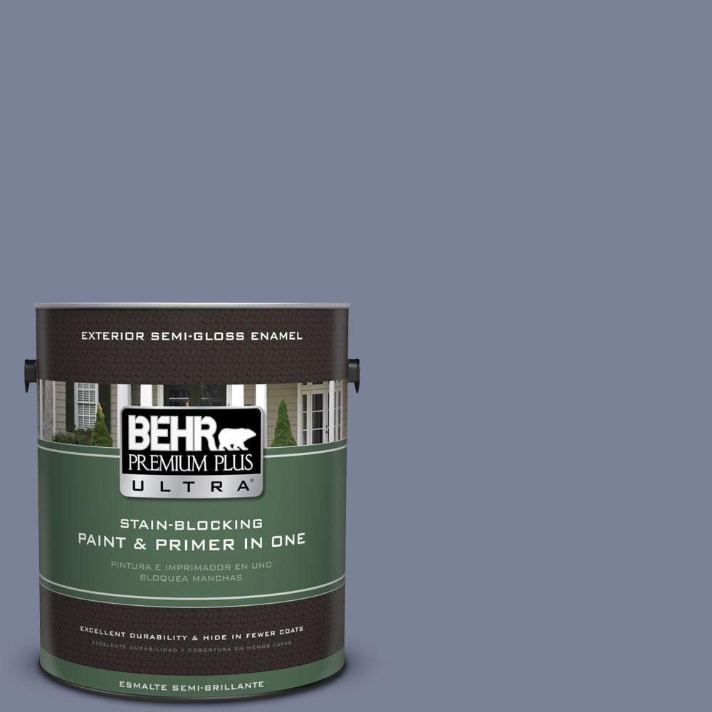 BEHR Premium Plus Ultra 1 Gal. #PPU15 7 Tranquil Pond Semi Gloss Enamel  Exterior Paint, Purples/Lavenders