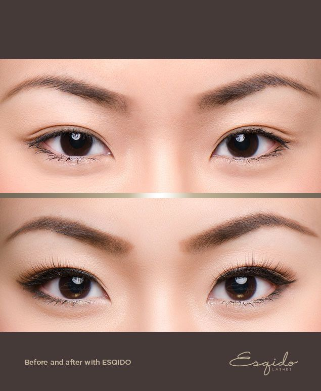 Here Is A Before And After Of Little Black Lash Mink False