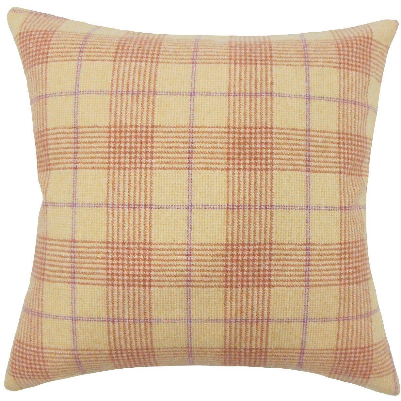 Geraint Plaid Throw Pillow