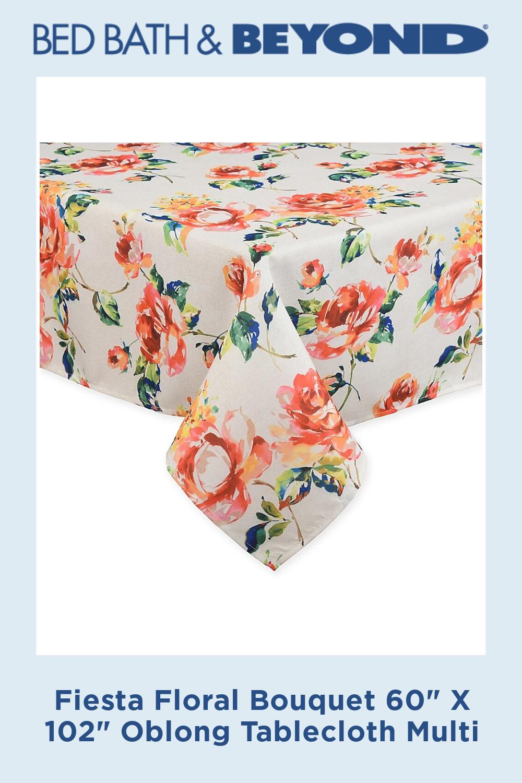 Fiesta Floral Bouquet 60 X 102 Oblong Tablecloth Multi