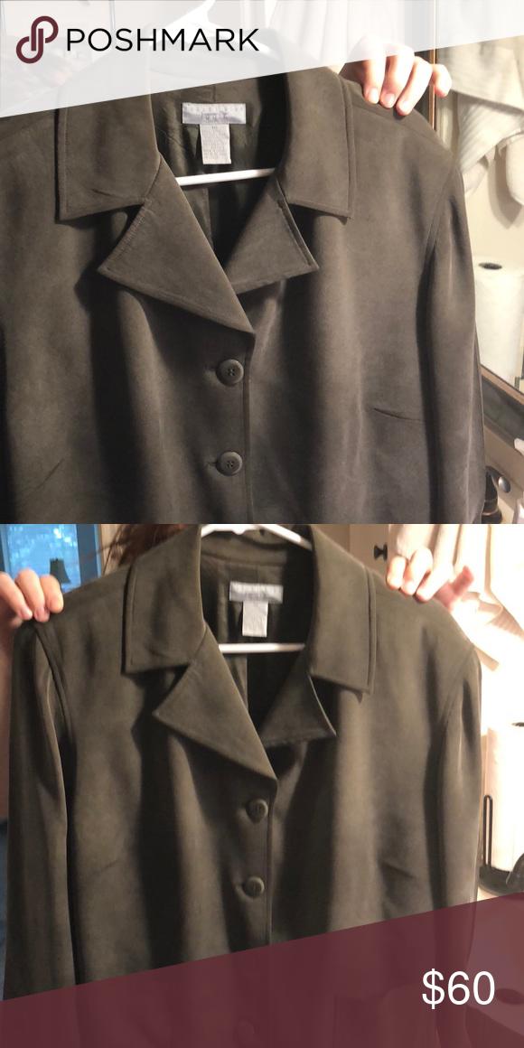 15f69a57dcf Jacket olive green Silk, olive green jacket august silk Jackets & Coats  Jean Jackets