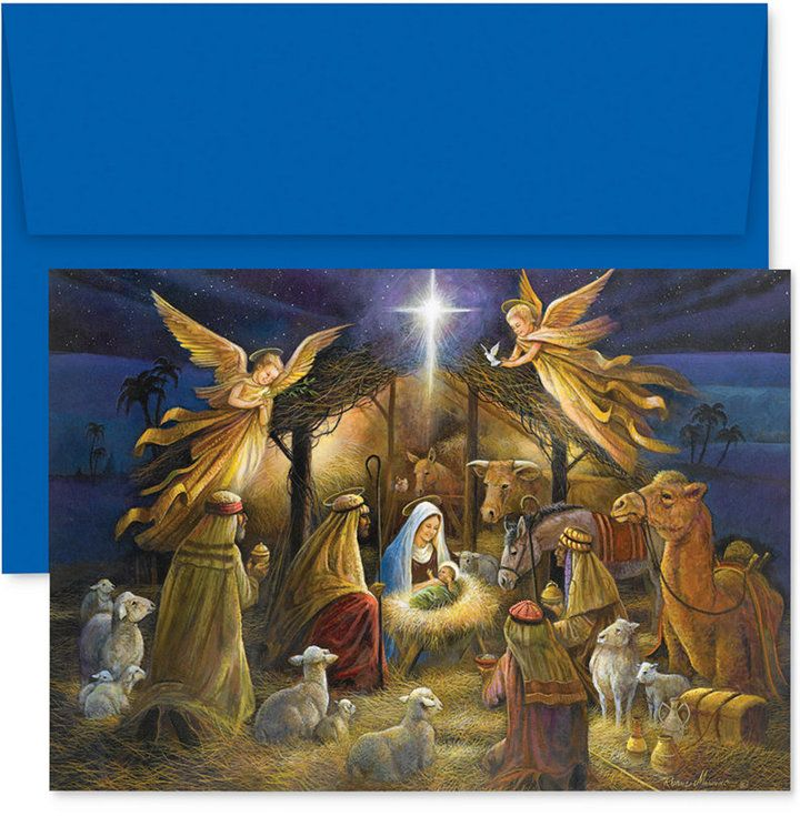 Masterpiece A Holy Scene Boxed Holiday Set of 18 Boxed Greeting ...