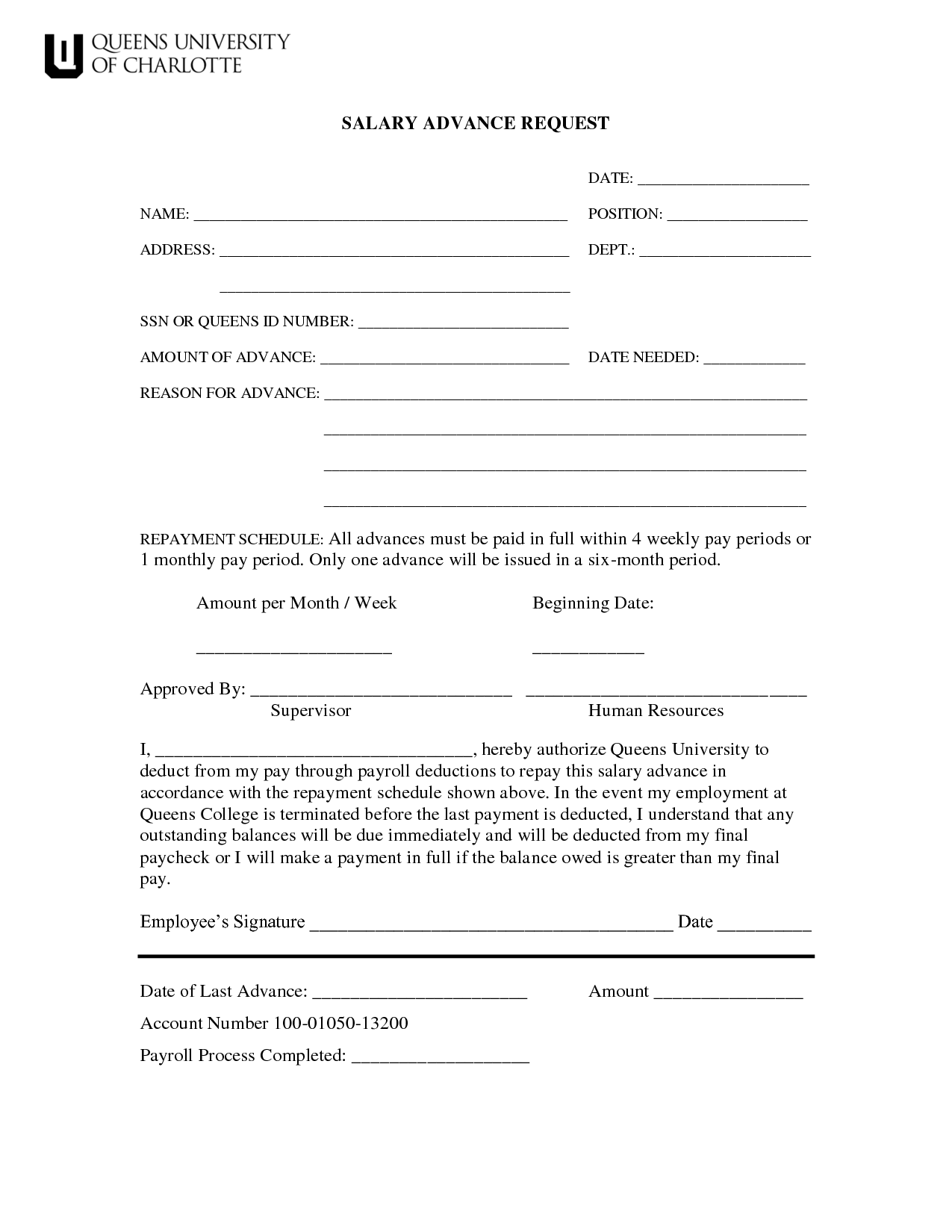 company advance salary application format download - Google Search ...