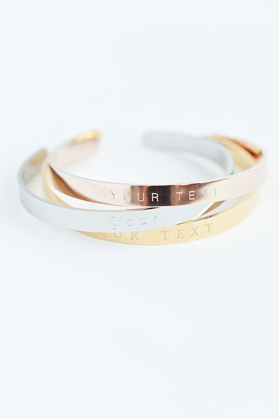 Photo of Oh bracelet Berlin shiny bangle with custom text and individual engraving