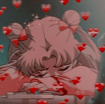 ❤️✨ #aesthetic #anime #girl #kawaii #cute #overthinking #thinking #sad #japan #night #hearts #sailormoon #moon #love #loving #blush