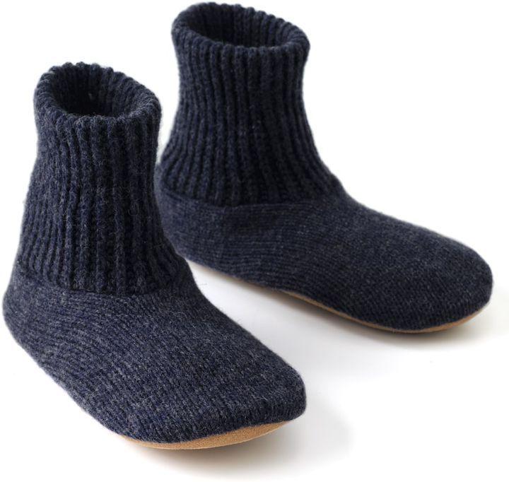 Muk Luks Mens Nordic Knit Bootie Slipper Socks