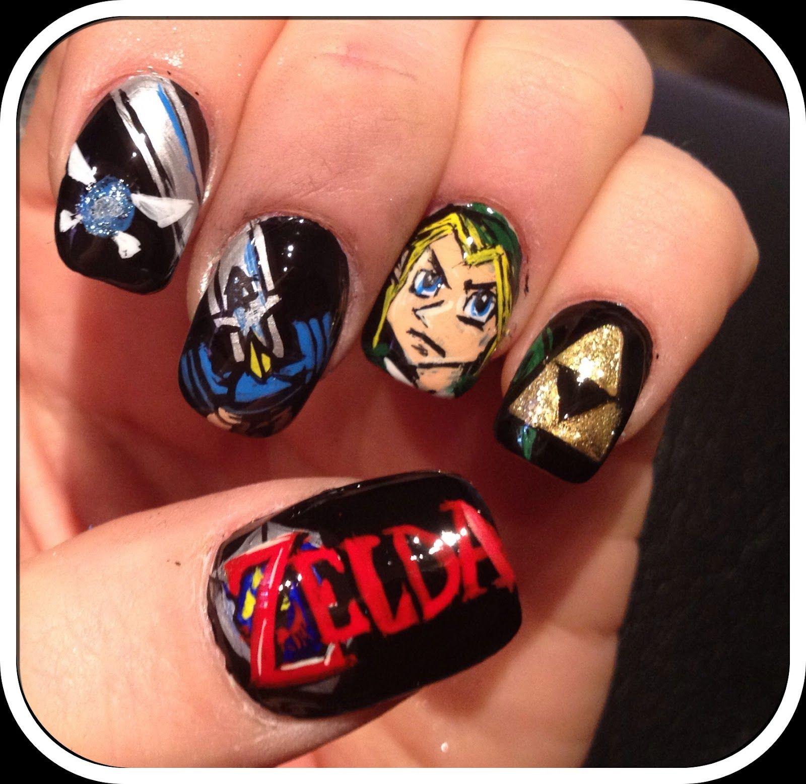 video game fingernails zelda2 | αωєѕσмє | Pinterest