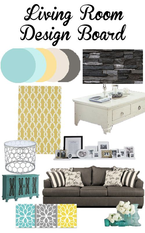 Living Room And Main Floor Design Inspiration Aqua Teal Yellow Grey