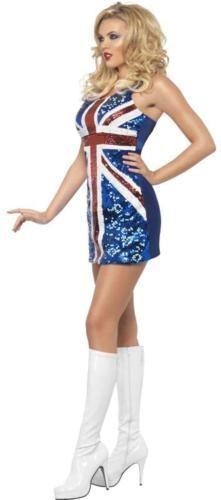 Kostüme Union Jack Sequined Dress