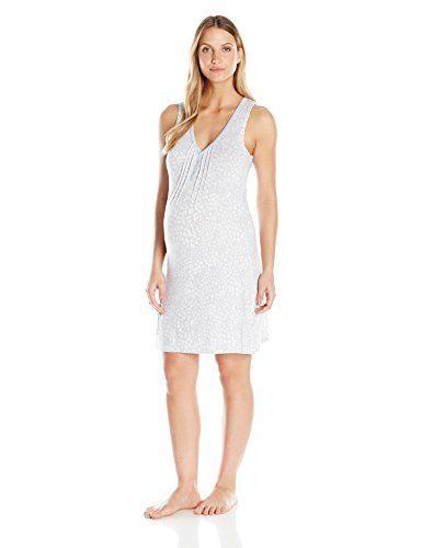 a6561c6651 Lamaze Maternity Womens Sleep Gown Light Grey Small