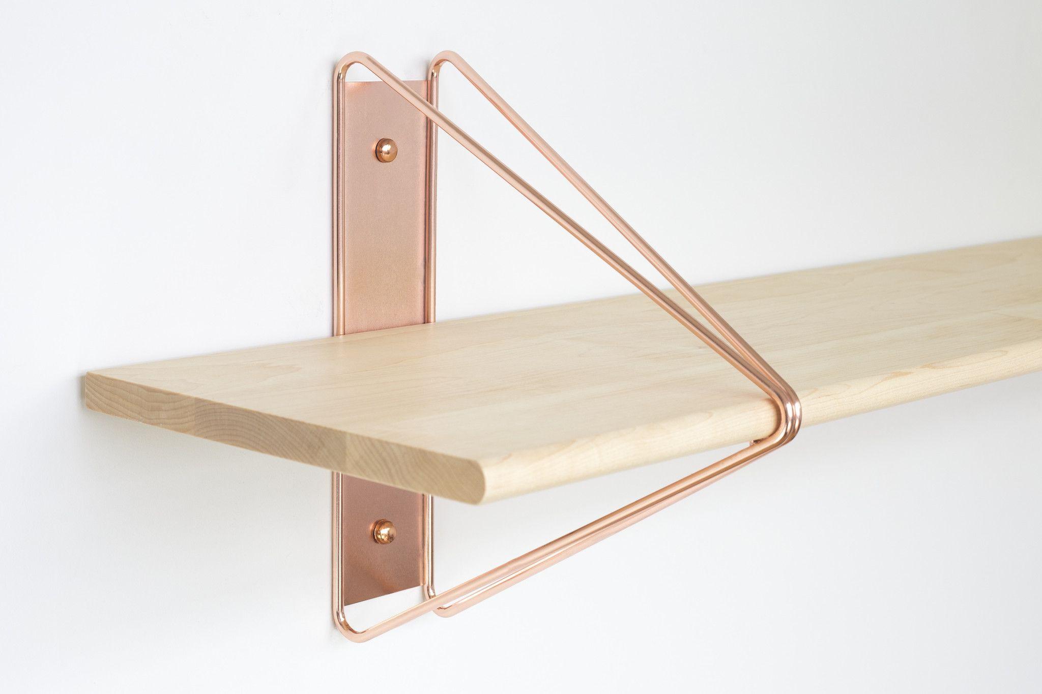 Strut Shelving System Copper Copper Shelving Shelving Modern Shelving