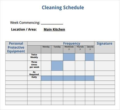 House Cleaning Schedule Template  Cleaning Tips