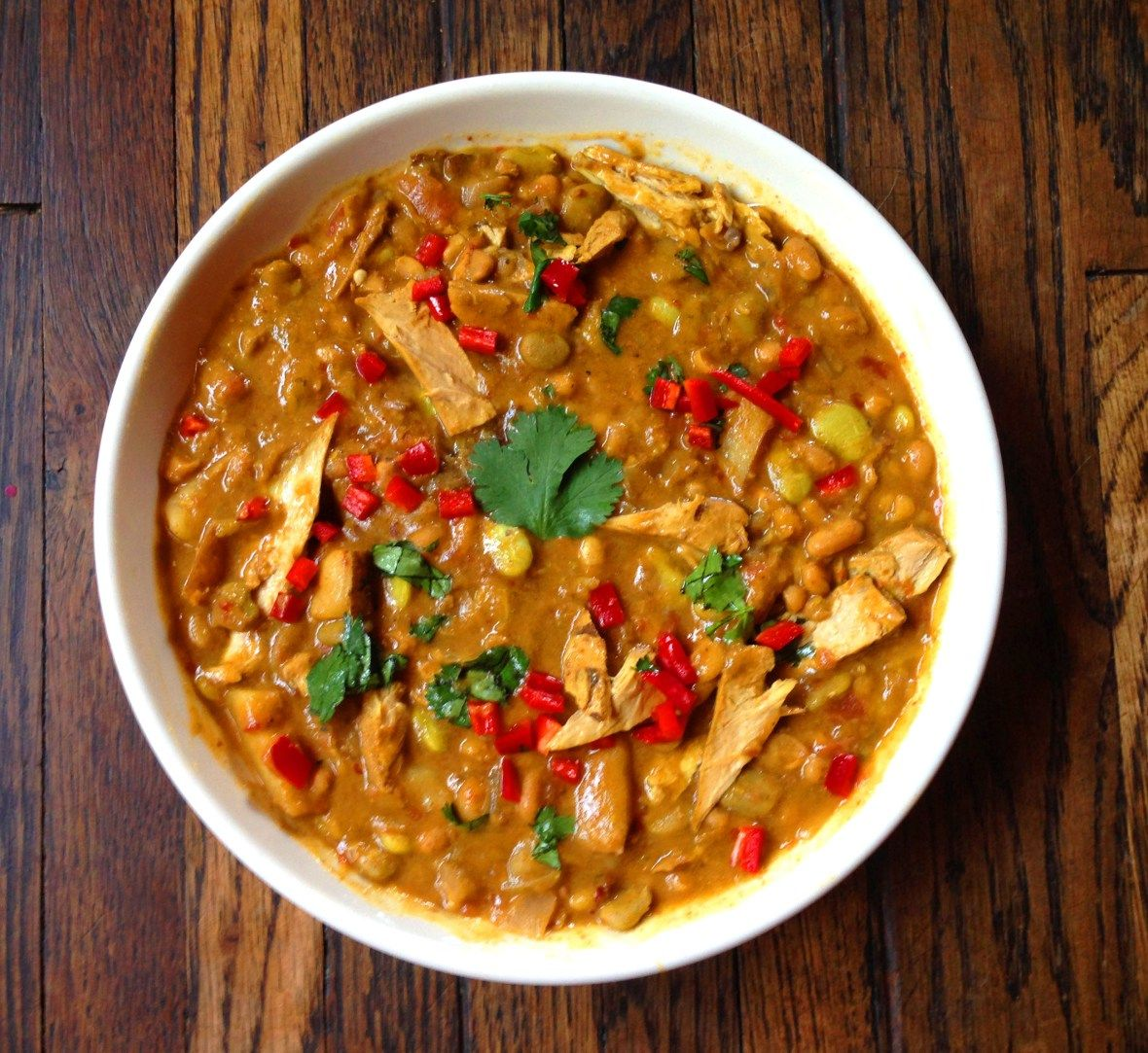 Spicy Pakistani Beyond Chicken & White Bean Stew