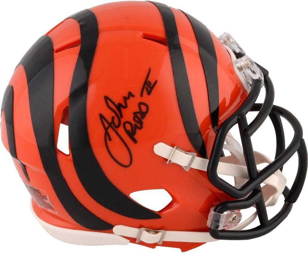 John Ross Cincinnati Bengals Autographed Riddell Speed Mini Helmet -  Fanatics  FootballHelmet  sportsmemorabilia  autograph 83de18c9a