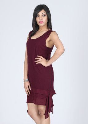 ff4b0e68ae185 French Connection Women's Sheath Dress - Buy Maroon French Connection  Women's Sheath Dress Online at Best Prices in India | Flipkart.com