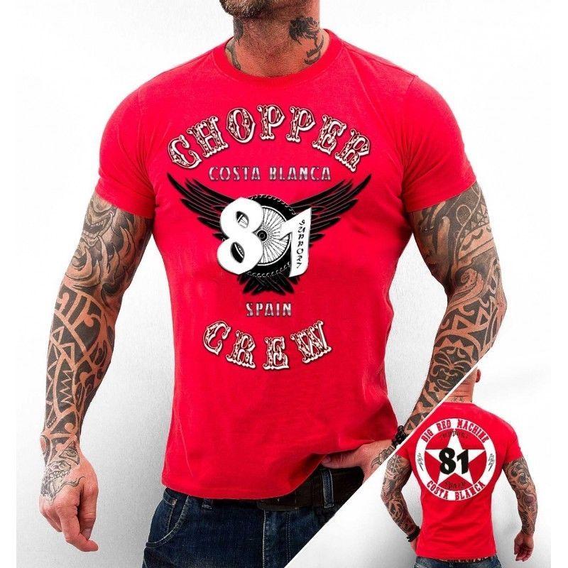 49 Hells Angels Big Red Machine Flying Wheel Support81 T-Shirt