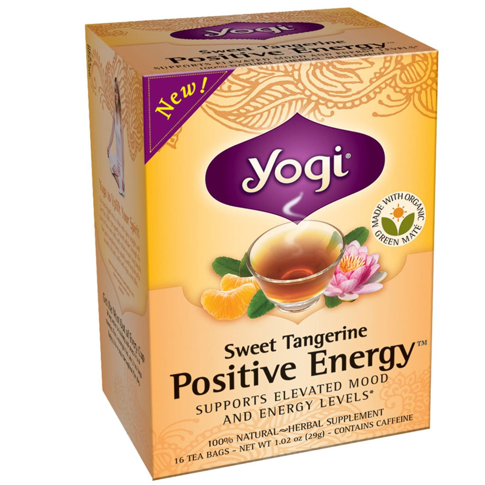 Yogi Tea Positive Energy Sweet Tangerine 16 Tea Bags 1