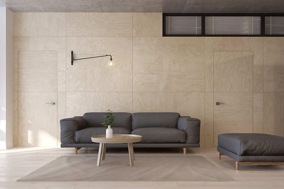 Best Simple Wood Paneling עץ Modern Minimalist Living Room 400 x 300