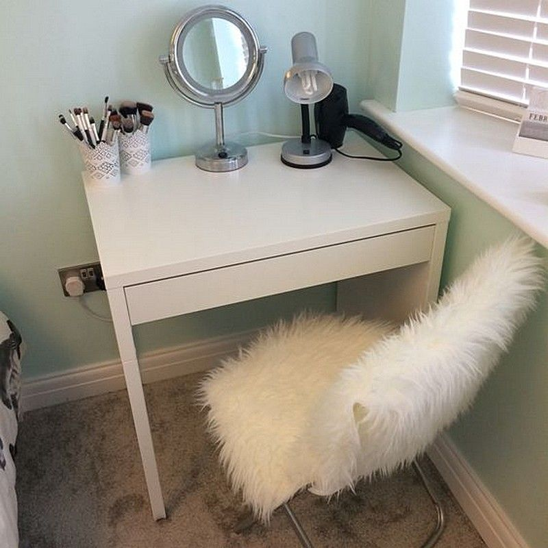 Ikea micke make up vanity for small spaces and small Small makeup vanity